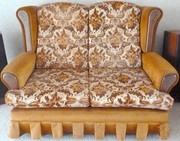 3 PIECE FABRIC COVERED LOUNGE SUITE IN GOOD CONDITION
