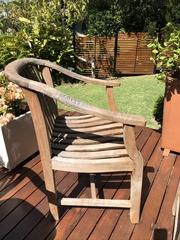Genuine teak outdoor dining chairs x 4
